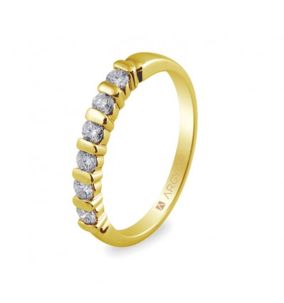 Sortija con 6 diamantes 0.39ct