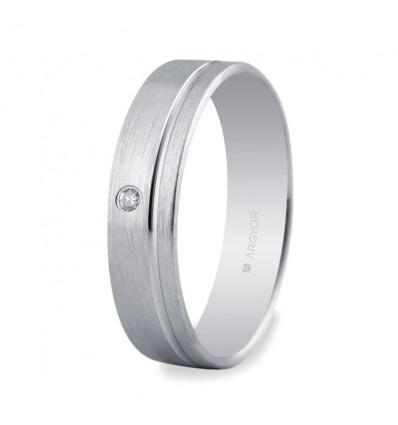 ALIANZA MOD. 555B1316. Alianza 5mm con diamante 0.02ct
