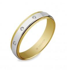 ALIANZA MOD. 55523158. Alianza 5mm con diamante 0.06ct