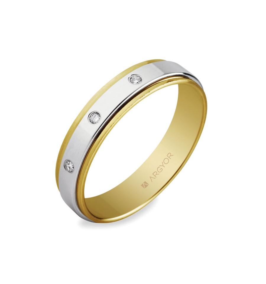 6cd7af7dce72 ALIANZA MOD. 55523158. Alianza 5mm con diamante 0.06ct - MJ JOYEROS