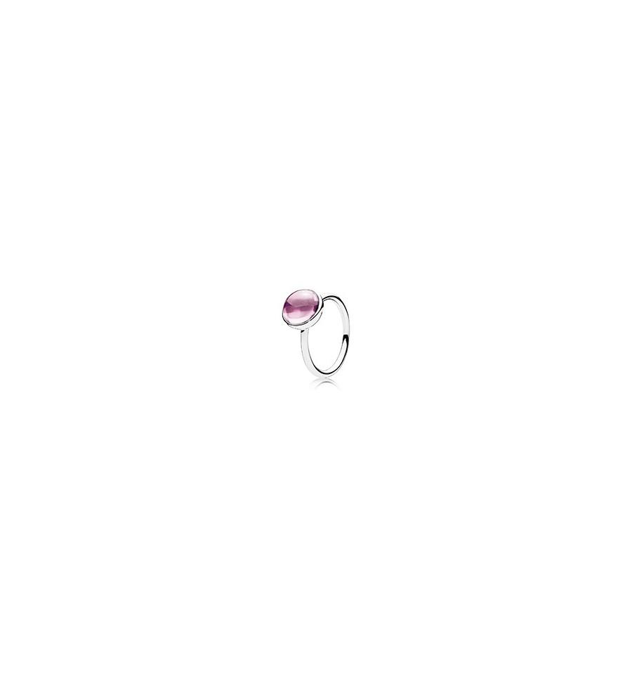 anillo lazo pandora rosa