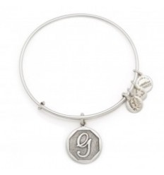 PULSERA ALEX AND ANI LETRA G PLATEADA