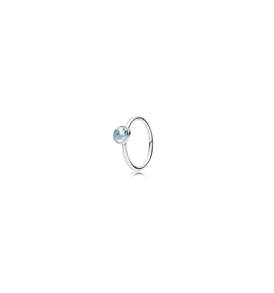 anillo pandora gotas brillantes