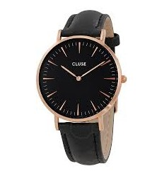 RELOJ CLUSE LA BOHEME ROSE GOLD BLACK