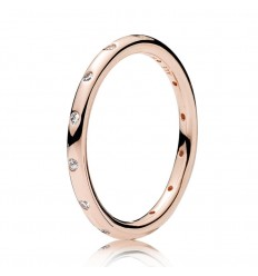 ANILLO PANDORA GOTAS BRILLANTES ROSE