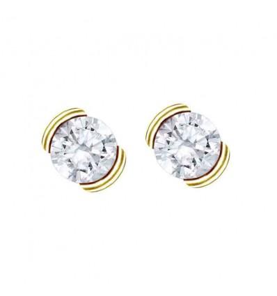 Par pendientes mod. 75A0010. Par pendientes con 2 diamantes