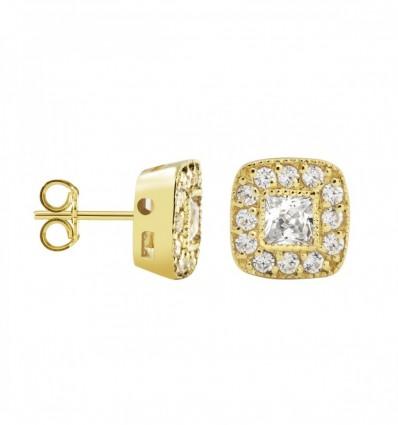 Par pendientes con diamantes 0,36 ct