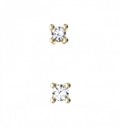 Par pendientes con diamantes 0,25 ct