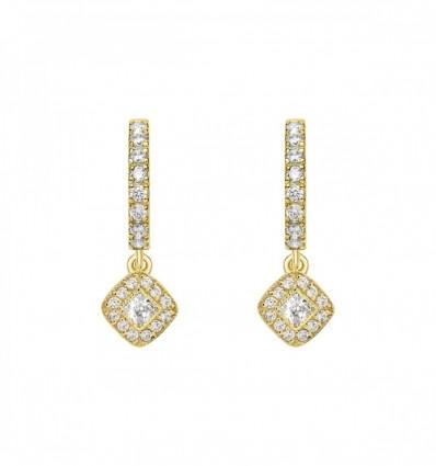 Par pendientes diamantes 0,60 ct