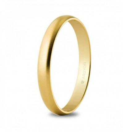 Alianza boda oro 2,5 mm satinada (50253S)