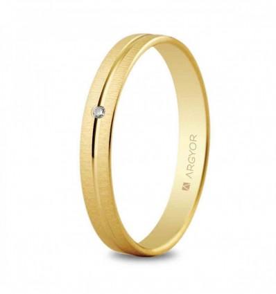 Alianza oro 3 mm diamante 5130474D