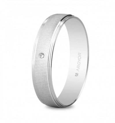 Alianza 4,5 mm con diamante 0,01 ct